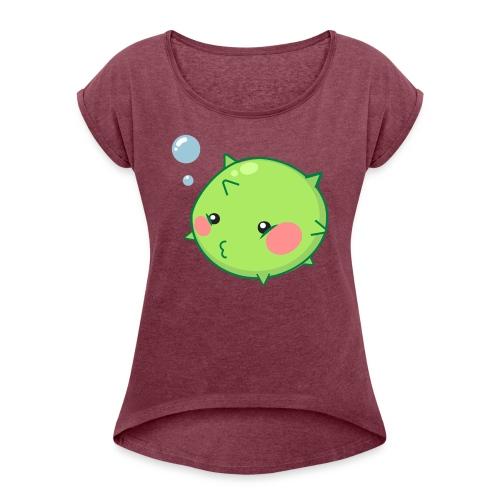 Puffer Fish - Women's Roll Cuff T-Shirt