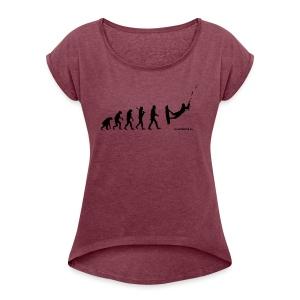 Kite surfing Evolution - Women's Roll Cuff T-Shirt