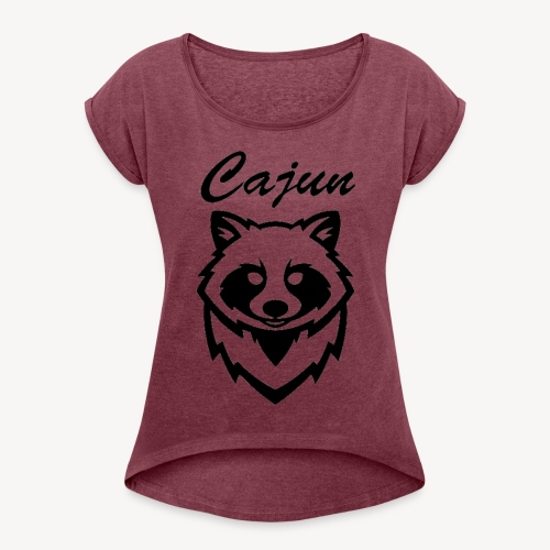 see throw cajun coon icon - Women's Roll Cuff T-Shirt