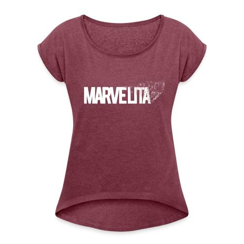 MARVELITA - Women's Roll Cuff T-Shirt