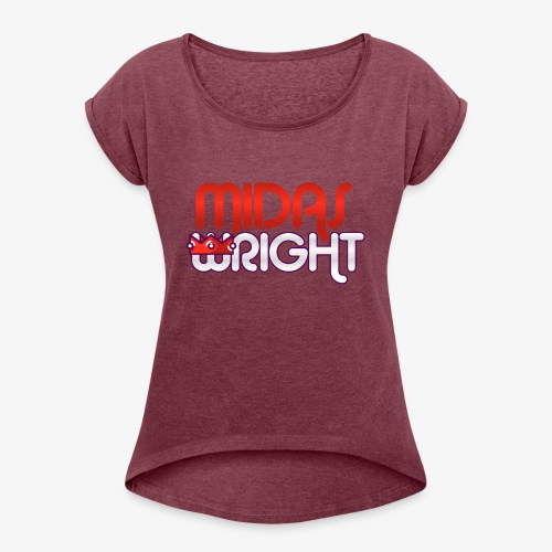 Midas Wright Official Logo - Women's Roll Cuff T-Shirt