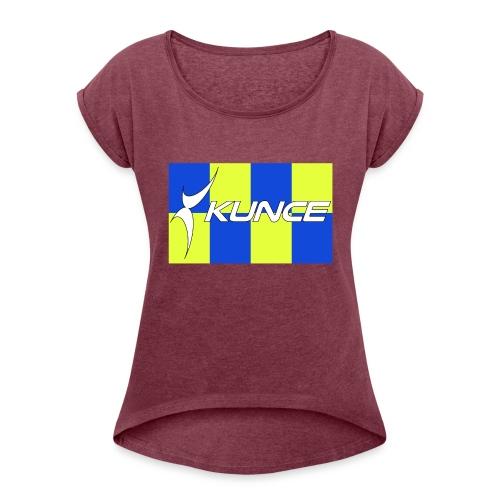 Kunce Clothing Original High Visibility Battenberg - Women's Roll Cuff T-Shirt