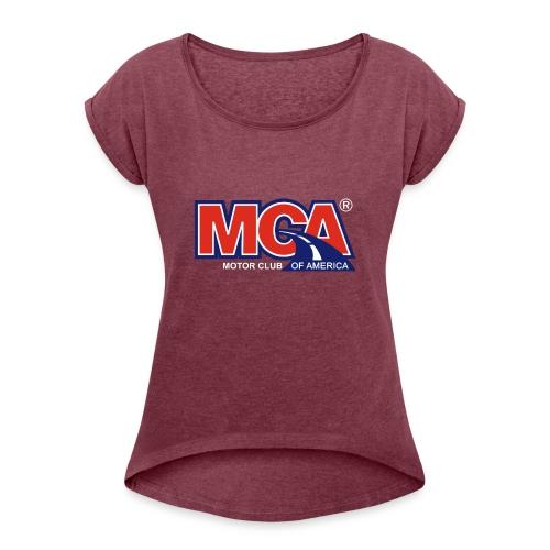 MCA Logo Transparent - Women's Roll Cuff T-Shirt