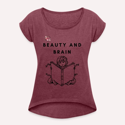 The stylish bookworm collection - Women's Roll Cuff T-Shirt