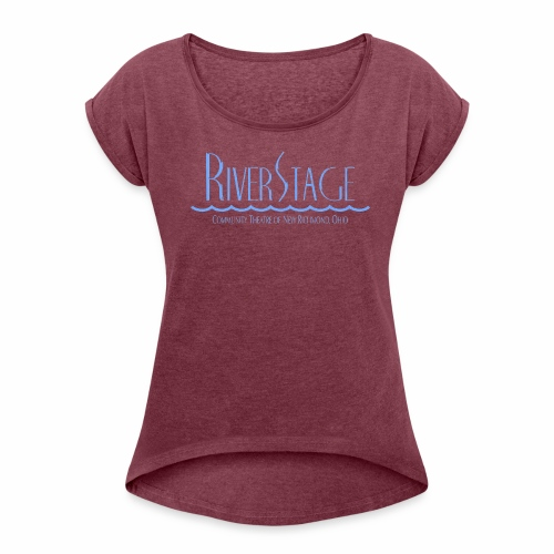 RiverStage Color Logo in Spa Blue - Women's Roll Cuff T-Shirt