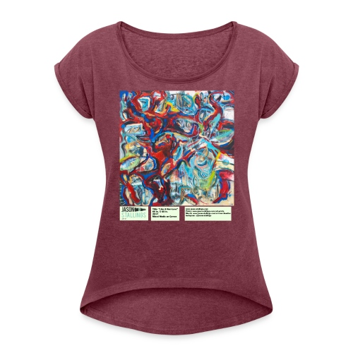 Like a Hurricane - Women's Roll Cuff T-Shirt