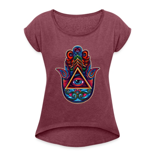 hamsa - Women's Roll Cuff T-Shirt