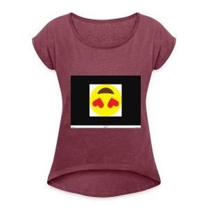 Love Heart - Women's Roll Cuff T-Shirt