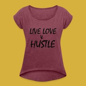 LLH black 01 - Women's Roll Cuff T-Shirt