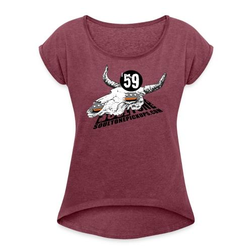 59 Texas Blues - Women's Roll Cuff T-Shirt