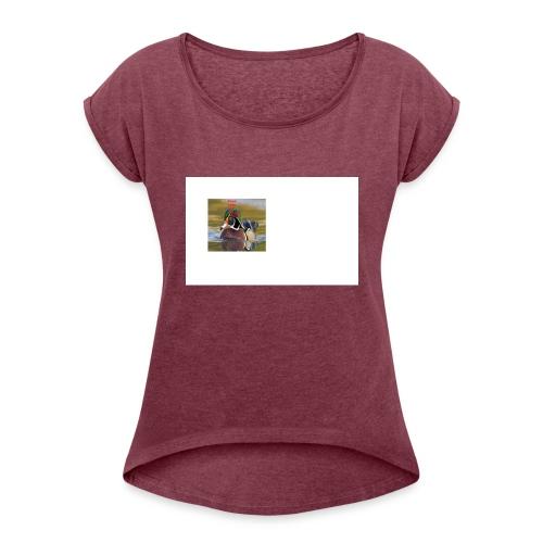duck_life - Women's Roll Cuff T-Shirt