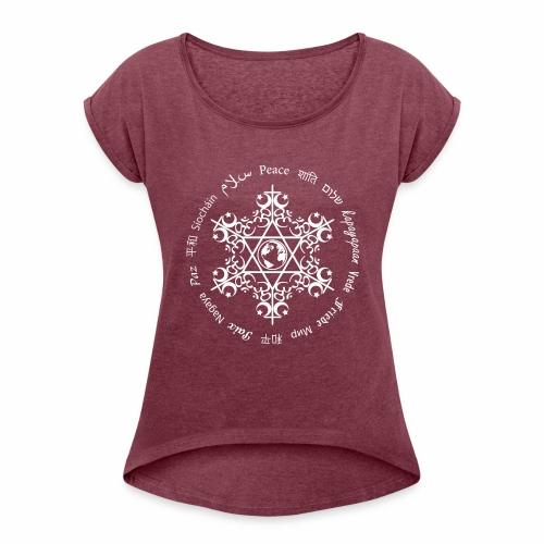 World peace - Women's Roll Cuff T-Shirt