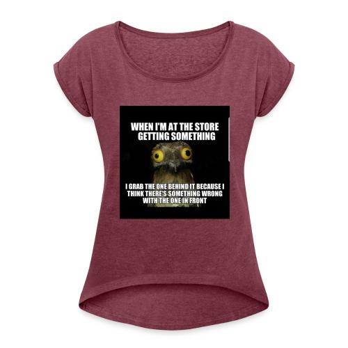 20180211 215834 - Women's Roll Cuff T-Shirt