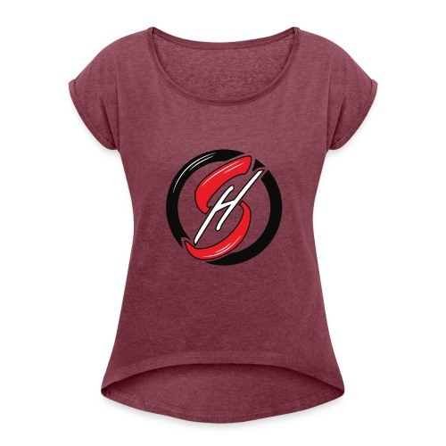 Arya Sahsouh Emblem - Women's Roll Cuff T-Shirt