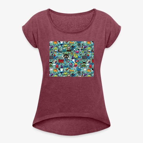 Wild Thoughts - Women's Roll Cuff T-Shirt
