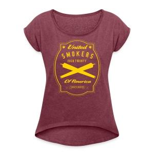 United Smokers of America - Women's Roll Cuff T-Shirt