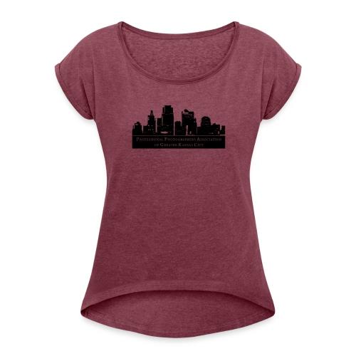 PPAGKC LOGO- Dark - Women's Roll Cuff T-Shirt
