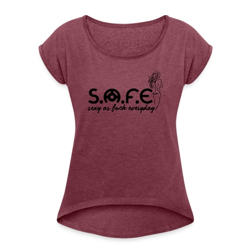S.A.F.E (Sexy2 Brand) - Women's Roll Cuff T-Shirt