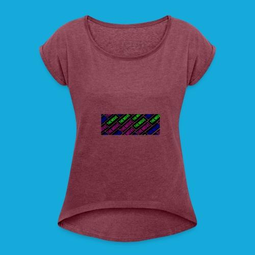 The Move logo box silhouette - Women's Roll Cuff T-Shirt