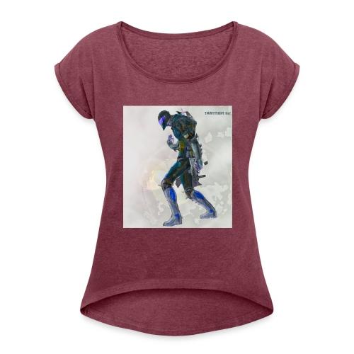 Scarday Designs-VI - Women's Roll Cuff T-Shirt