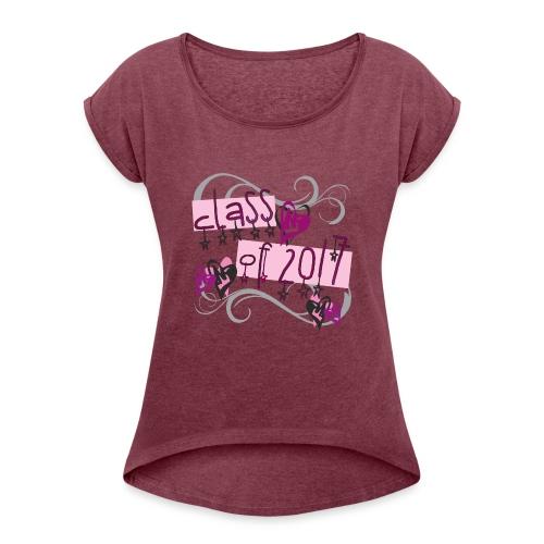 PINK Class of 2017 Stars - Women's Roll Cuff T-Shirt