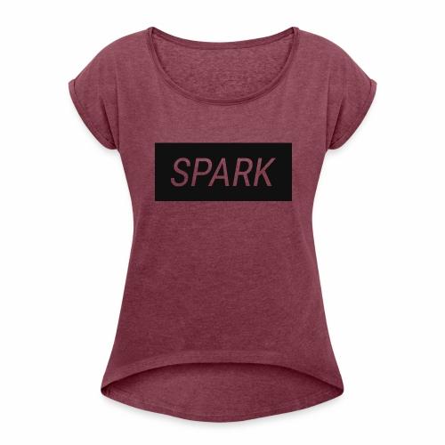 Spark Logo - Women's Roll Cuff T-Shirt