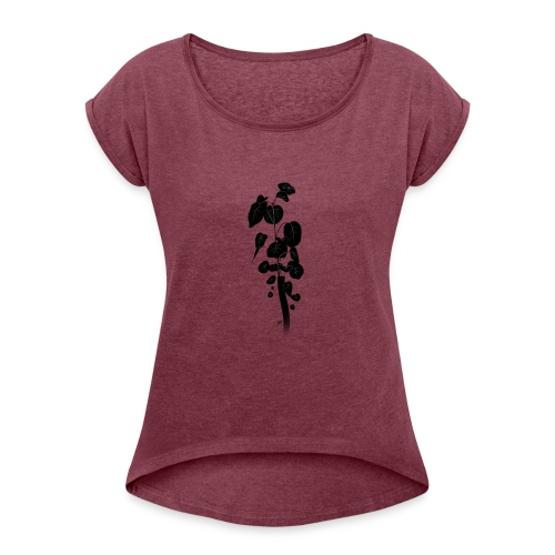 Silhouetted Plant - Women's Roll Cuff T-Shirt