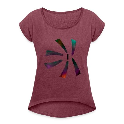 Monster Eye - Women's Roll Cuff T-Shirt