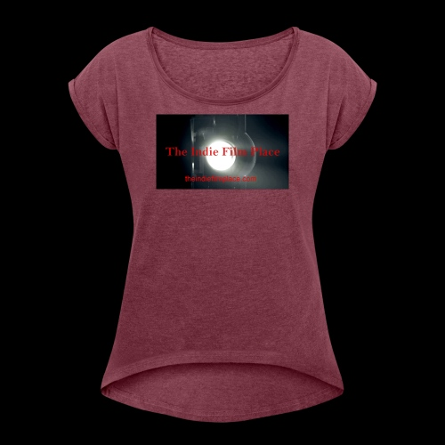 IFP Grindhouse Logo - Women's Roll Cuff T-Shirt