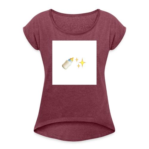Ybg.terajii - Women's Roll Cuff T-Shirt