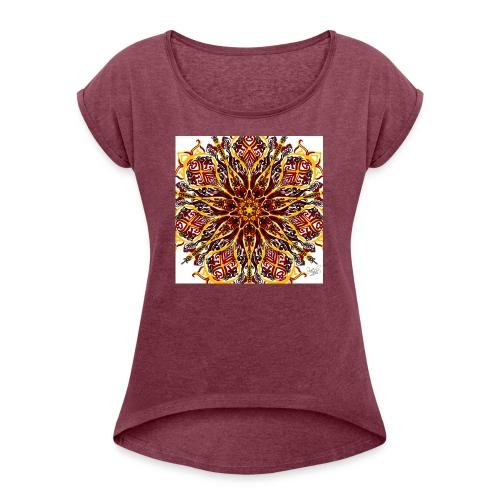 Fuzzle - Women's Roll Cuff T-Shirt