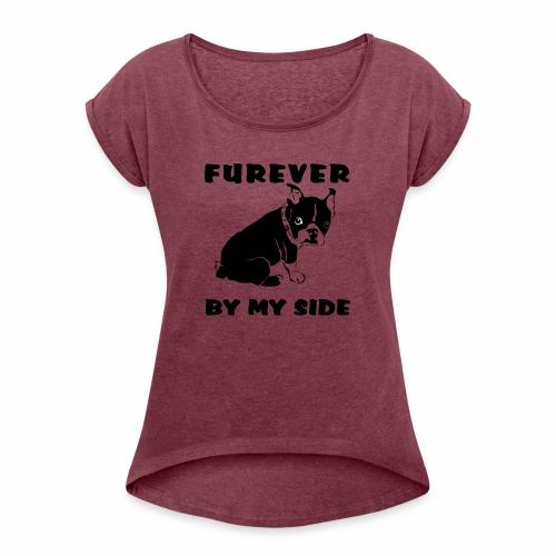 French Bull Dog - Women's Roll Cuff T-Shirt