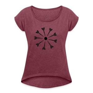 9 Darts Dart Shirt - Women's Roll Cuff T-Shirt