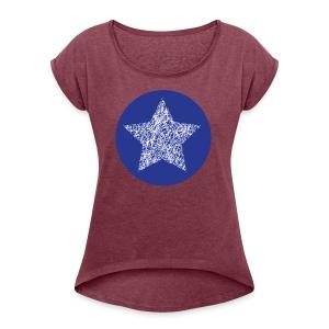 Sketchy star - Women's Roll Cuff T-Shirt