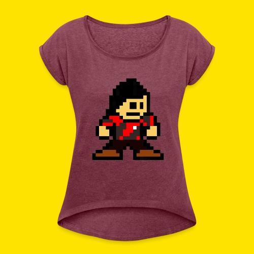 Kuna Mega Man Logo Unisex Tie-Die - Women's Roll Cuff T-Shirt