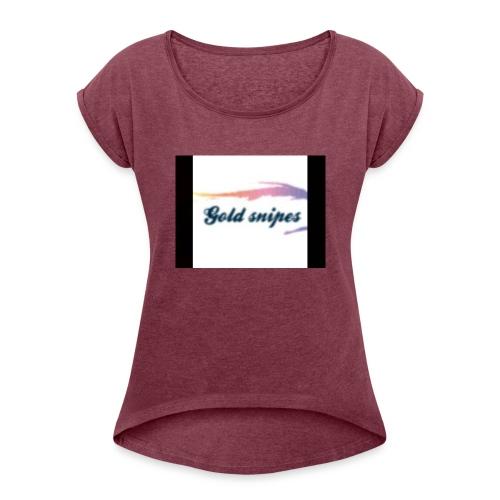 Kids Gold snipes Tshirt - Women's Roll Cuff T-Shirt