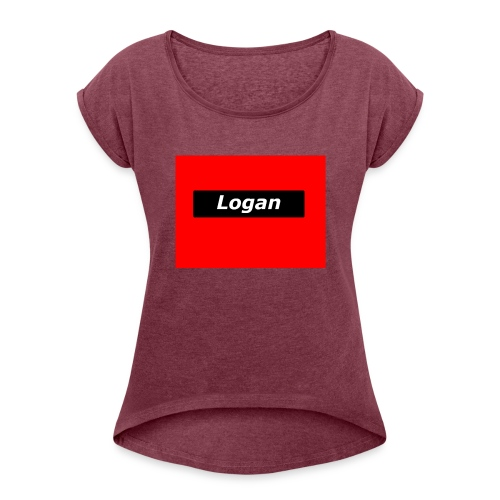 LoganRed Original - Women's Roll Cuff T-Shirt