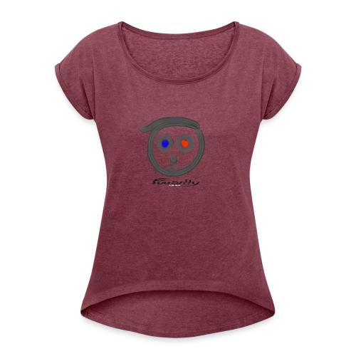 Blue, red FuuSilly - Women's Roll Cuff T-Shirt