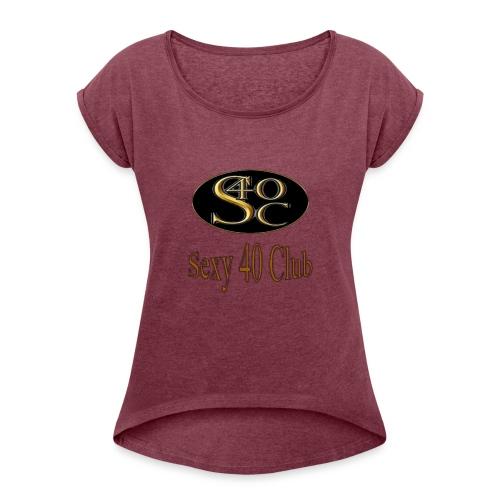 s40c logo trans - Women's Roll Cuff T-Shirt
