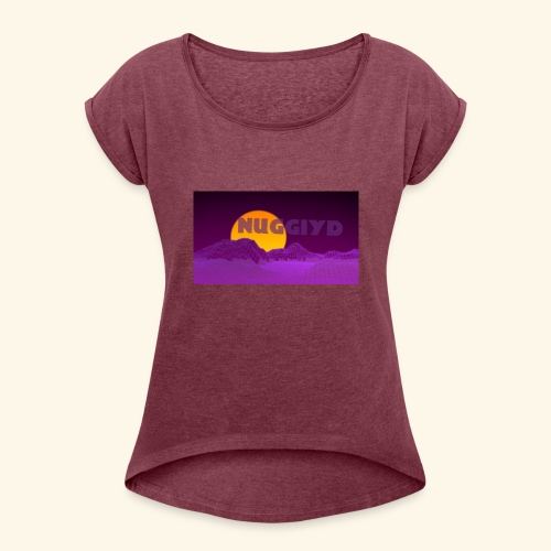 purple boy shirt - Women's Roll Cuff T-Shirt