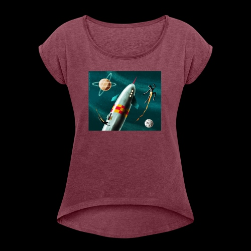 Rockets and Jetpacks - Women's Roll Cuff T-Shirt