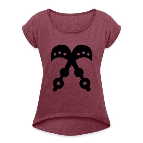 AKOFENA - Sword of War - Women's Roll Cuff T-Shirt