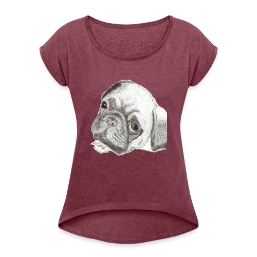 Pug - Women's Roll Cuff T-Shirt