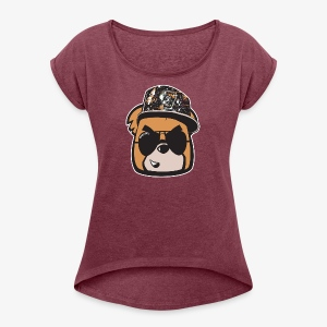 Bearly Fresh FACEONLY - Women's Roll Cuff T-Shirt