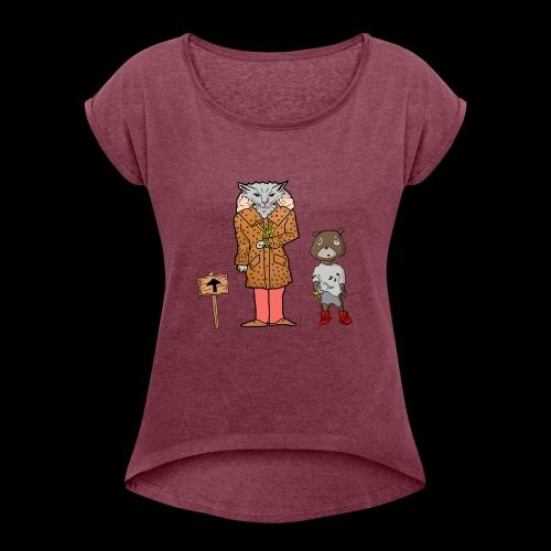 Tomkat Larry Only Pimps Tan Leather Ostrich Parka - Women's Roll Cuff T-Shirt