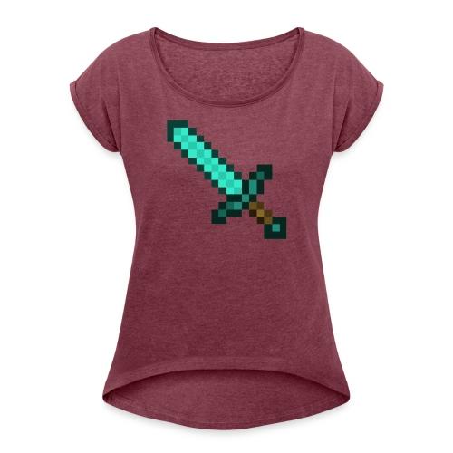 Official Diamond Sword Merch - Women's Roll Cuff T-Shirt