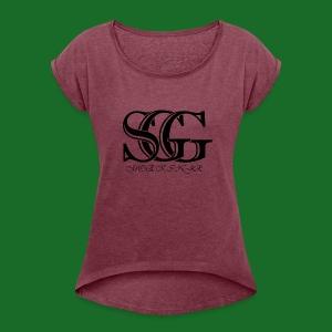 SGG Member MoekinJr - Women's Roll Cuff T-Shirt