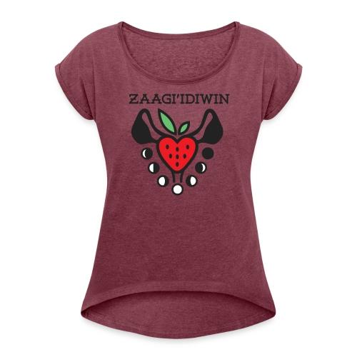 Zaagi idiwin Logo - Women's Roll Cuff T-Shirt