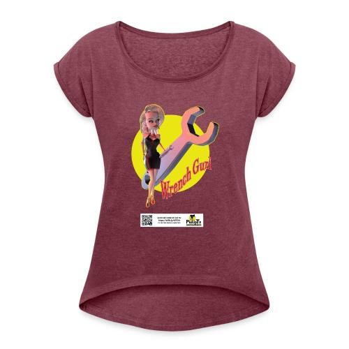 PinTz design 02 - Women's Roll Cuff T-Shirt