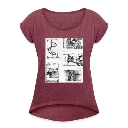 Fate tarot - Women's Roll Cuff T-Shirt
